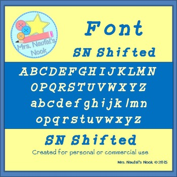 Font Commercial or Personal Use SN Shifted