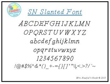 Font SN Slanted