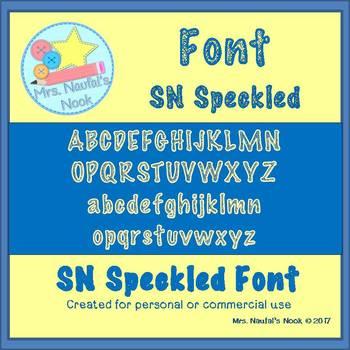 Font SN Speckled