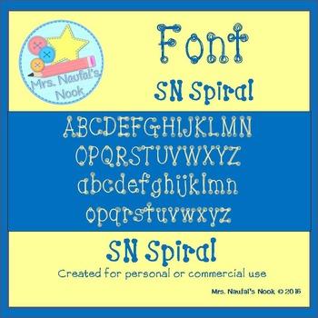 Font SN Spiral