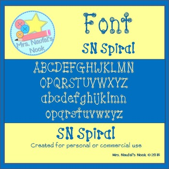 Font Commercial Use SN Spiral