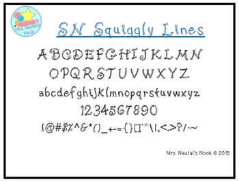Font License Commercial or Personal Use SN Squiggly Lines