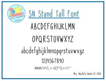 Font Commercial Use SN Stand Tall