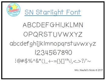 Font SN Starlight