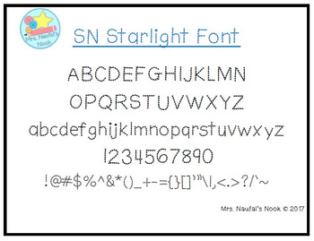 Font Commercial Use SN Starlight