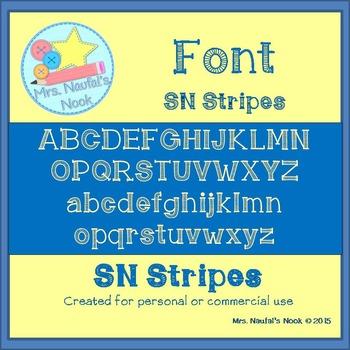 Font SN Stripes