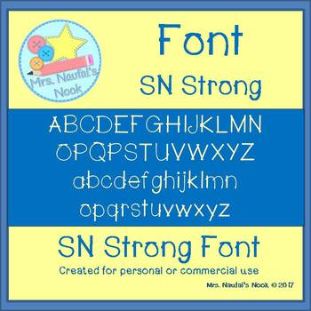 Font Commercial Use SN Strong