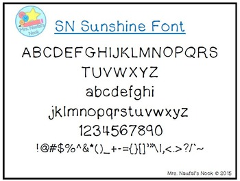 Font License Commercial or Personal Use SN Sunshine