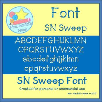 Font Commercial Use SN Sweep