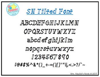 Font SN Tilted