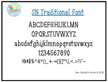 Font Commercial Use SN Traditional