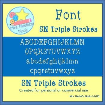 Font SN Triple Strokes