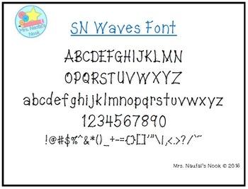 Font SN Waves
