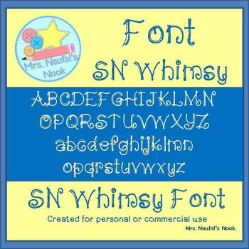 Font SN Whimsy