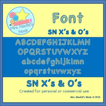 Font SN X's and O's