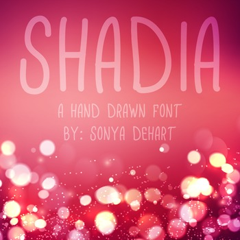 Font Shadia TTF Font with Glyphs