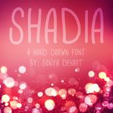 Font Shadia TTF Font with Glyphs