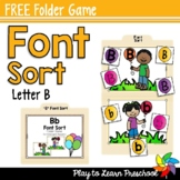Font Sort - FREE Folder Games