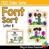 Font Sort - FREE Folder Games