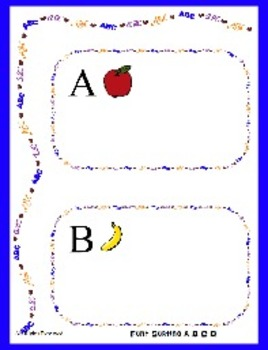 Font Sorting the Letters A B C D File Folder Game - Reading Alphabet Recognition