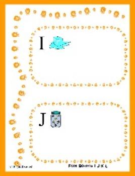 Font Sorting the Letters I J K L File Folder Game - Letter Recognition