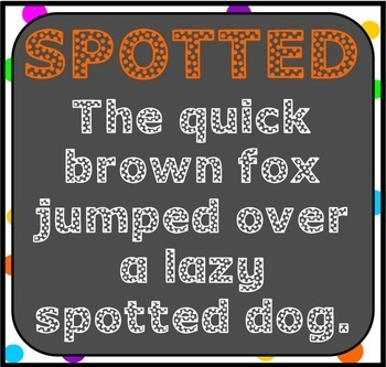 Font: Spotted (True Type Font)