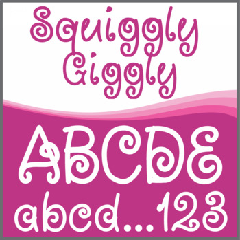 Font: Squiggly Giggly (True Type Font)