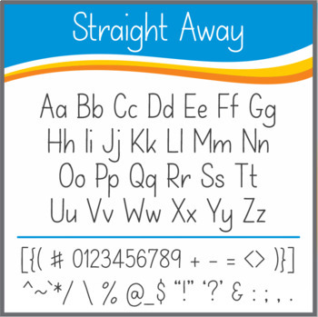 Font: Straight Away (True Type Font)