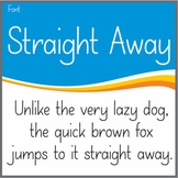 Font: Straight Away (True Type Font)