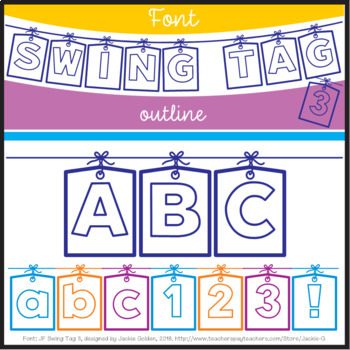 Font: Swing Tag 3 (True Type Font)