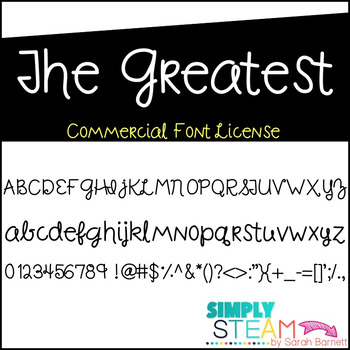 Font: The Greatest Font License for Personal and Commercial Use