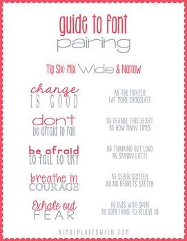 Font Tips: KG Fonts Font Pairing Guide