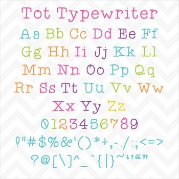 Font Tot Typewriter TTF Font with Glyphs