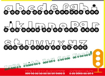 Font - Toy Car Font, Great for Teachers and Sellers