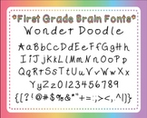 Font: Wonder Doodle (personal and commercial use)