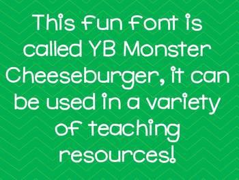 Font YB (Yara Boustani) Monster Cheeseburger - {The Sea of Knowledge}