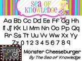 Font YB (Yara Boustani) Monster Cheeseburger - {The Sea of