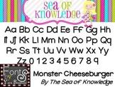 Font YB (Yara Boustani) Monster Cheeseburger - {The Sea of