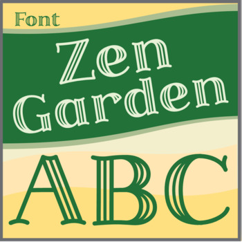 Font: Zen Garden (True Type Font)
