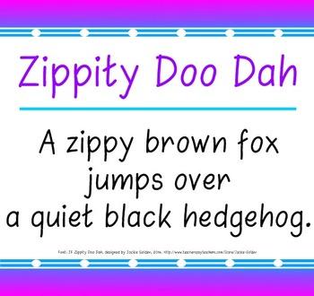 Font: Zippity Doo Dah (True Type Font)