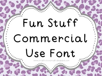 Font for Commercial or Personal Use~ Fun Stuff!