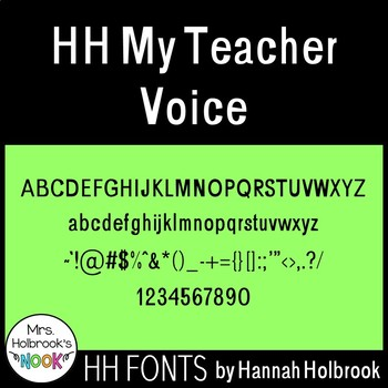 Font for Commercial or Personal Use - HH My Teacher Voice