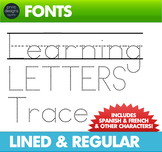 Font for Learning Letters TRACING • Make worksheets for young learners to trace!