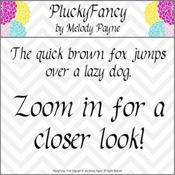 Font for Personal & Commercial Use: PluckyFancy Calligraphy Font