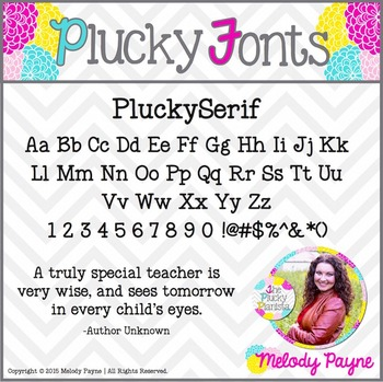 Font for Personal & Commercial Use: PluckySerif