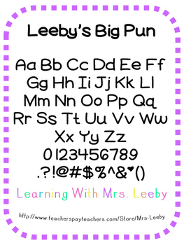 Font for personal and commercial use - Leeby's Big Pun
