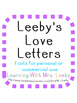 Font for personal and commercial use - Leeby's Love Language