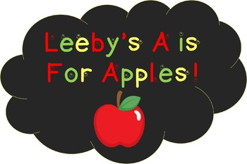 Font for personal and commercial use - Leeby's A is For Apples