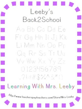 Font for personal and commercial use - Leeby's Back2School