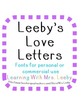 Font for personal and commercial use - Leeby's Canvas ( block letters )